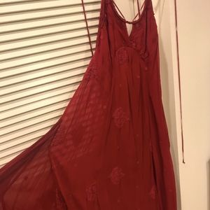 Free People Embellished Midi Dress - Size 6